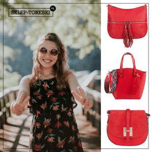 czerwona torebka casual