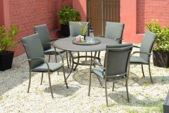 krzesło ogrodowe z poduszka